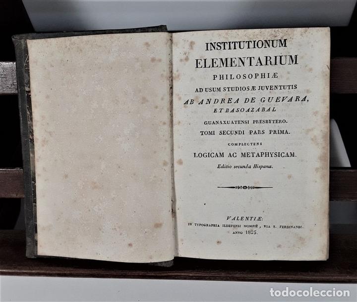 Libros antiguos: INSTITUTIONUM ELEMENTARIUM. 2 TOMOS. A. DE GUEVARA ET BASOAZABAL. 1825/27. - Foto 4 - 172288704