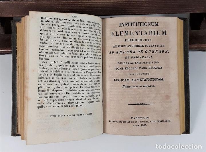 Libros antiguos: INSTITUTIONUM ELEMENTARIUM. 2 TOMOS. A. DE GUEVARA ET BASOAZABAL. 1825/27. - Foto 6 - 172288704