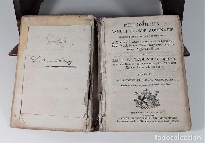 Libros antiguos: PHILOSOPHIA SANCTI THOMA AQUINATIS. TOMO II. TIP. MICHAELIS BURGOS. MADRID. 1825. - Foto 4 - 172611670