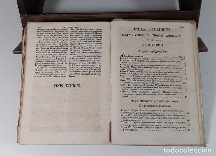 Libros antiguos: PHILOSOPHIA SANCTI THOMA AQUINATIS. TOMO II. TIP. MICHAELIS BURGOS. MADRID. 1825. - Foto 7 - 172611670