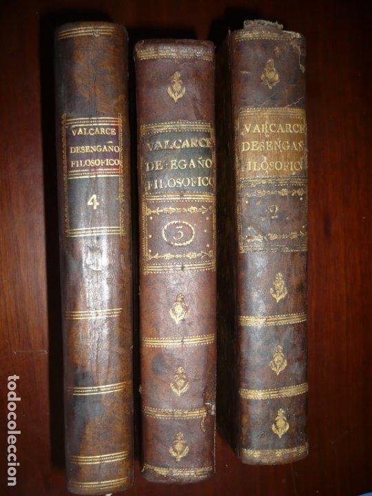 3/4 DESENGAÑOS FILOSOFICOS QUE EN OBSEQUIO VICENTEFERNANDEZ VALCARZE1788-90-97 MADRID (Libros Antiguos, Raros y Curiosos - Pensamiento - Filosofía)