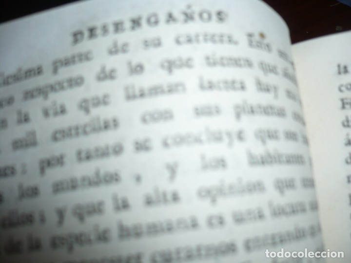 Libros antiguos: 3/4 DESENGAÑOS FILOSOFICOS QUE EN OBSEQUIO VICENTEFERNANDEZ VALCARZE1788-90-97 MADRID - Foto 7 - 173662630