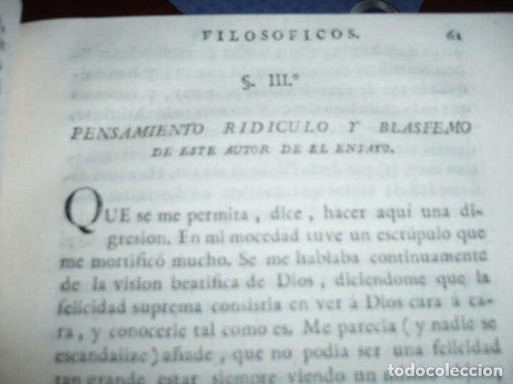 Libros antiguos: 3/4 DESENGAÑOS FILOSOFICOS QUE EN OBSEQUIO VICENTEFERNANDEZ VALCARZE1788-90-97 MADRID - Foto 8 - 173662630