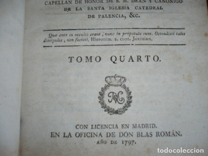 Libros antiguos: 3/4 DESENGAÑOS FILOSOFICOS QUE EN OBSEQUIO VICENTEFERNANDEZ VALCARZE1788-90-97 MADRID - Foto 18 - 173662630