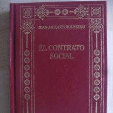 Libros antiguos: EL CONTRATO SOCIAL - JEAN JACQUES ROUSSEAU - BIBLIOTECA DE LOS GRANDES PENSADORES. Lote 175171072