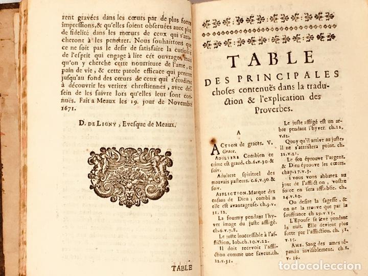 Libros antiguos: Les Proverbes De Salomon, Paris, Francés-Latín, 1680, 783 páginas, libro antiguo, raro Siglo XVII - Foto 4 - 175947932