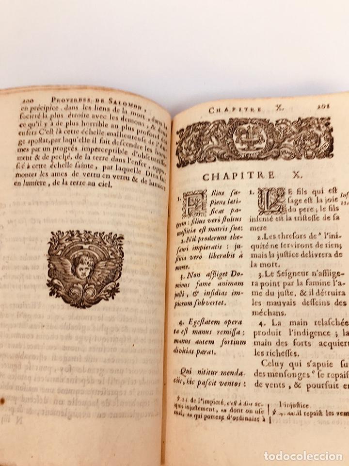Libros antiguos: Les Proverbes De Salomon, Paris, Francés-Latín, 1680, 783 páginas, libro antiguo, raro Siglo XVII - Foto 5 - 175947932