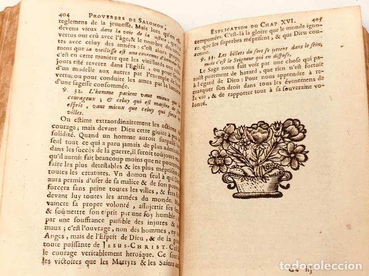 Libros antiguos: Les Proverbes De Salomon, Paris, Francés-Latín, 1680, 783 páginas, libro antiguo, raro Siglo XVII - Foto 7 - 175947932