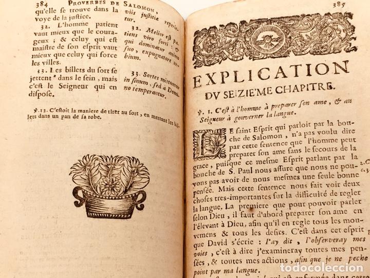 Libros antiguos: Les Proverbes De Salomon, Paris, Francés-Latín, 1680, 783 páginas, libro antiguo, raro Siglo XVII - Foto 8 - 175947932