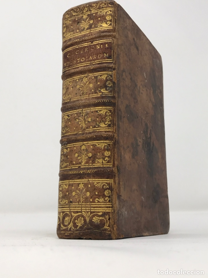 Libros antiguos: Ciceronis Epistolarum 1563, Siglo XVI, 17cmx11'5cmx5cm, 441 páginas, antiguo, excelente condición - Foto 2 - 176148134
