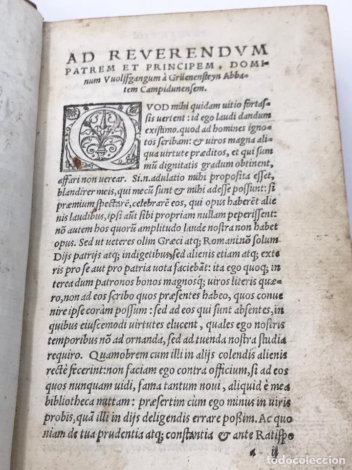 Libros antiguos: Ciceronis Epistolarum 1563, Siglo XVI, 17cmx11'5cmx5cm, 441 páginas, antiguo, excelente condición - Foto 6 - 176148134
