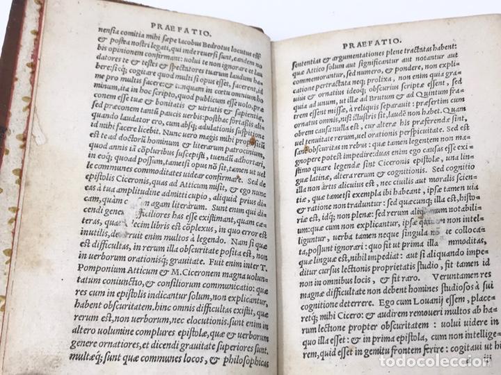 Libros antiguos: Ciceronis Epistolarum 1563, Siglo XVI, 17cmx11'5cmx5cm, 441 páginas, antiguo, excelente condición - Foto 7 - 176148134