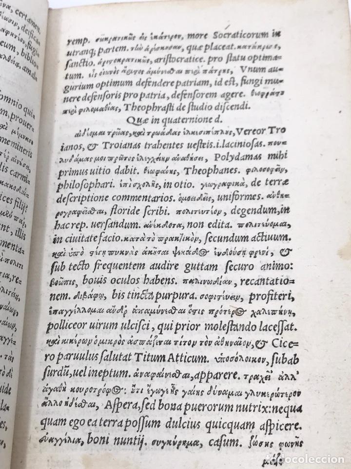 Libros antiguos: Ciceronis Epistolarum 1563, Siglo XVI, 17cmx11'5cmx5cm, 441 páginas, antiguo, excelente condición - Foto 9 - 176148134