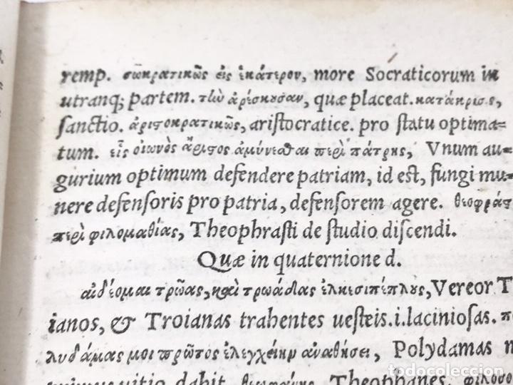 Libros antiguos: Ciceronis Epistolarum 1563, Siglo XVI, 17cmx11'5cmx5cm, 441 páginas, antiguo, excelente condición - Foto 10 - 176148134