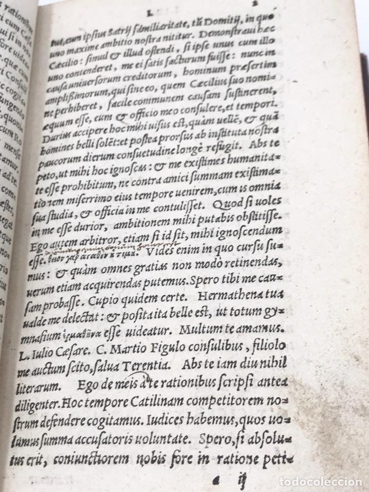 Libros antiguos: Ciceronis Epistolarum 1563, Siglo XVI, 17cmx11'5cmx5cm, 441 páginas, antiguo, excelente condición - Foto 11 - 176148134