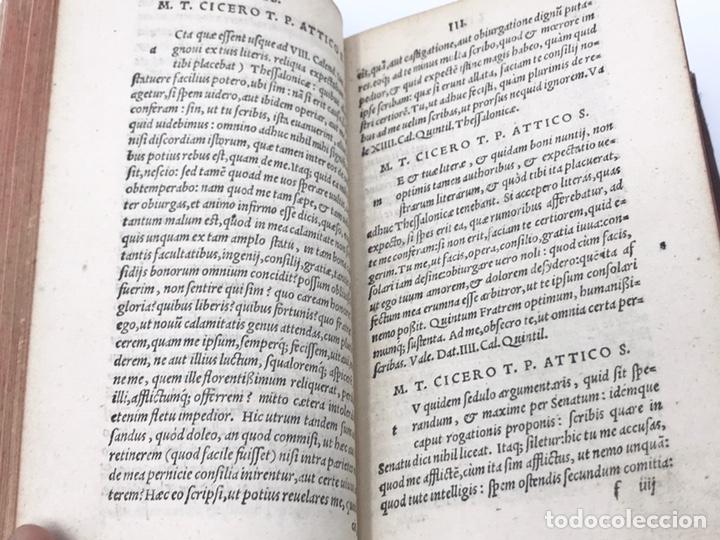 Libros antiguos: Ciceronis Epistolarum 1563, Siglo XVI, 17cmx11'5cmx5cm, 441 páginas, antiguo, excelente condición - Foto 12 - 176148134