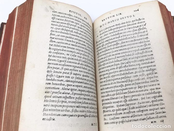 Libros antiguos: Ciceronis Epistolarum 1563, Siglo XVI, 17cmx11'5cmx5cm, 441 páginas, antiguo, excelente condición - Foto 14 - 176148134