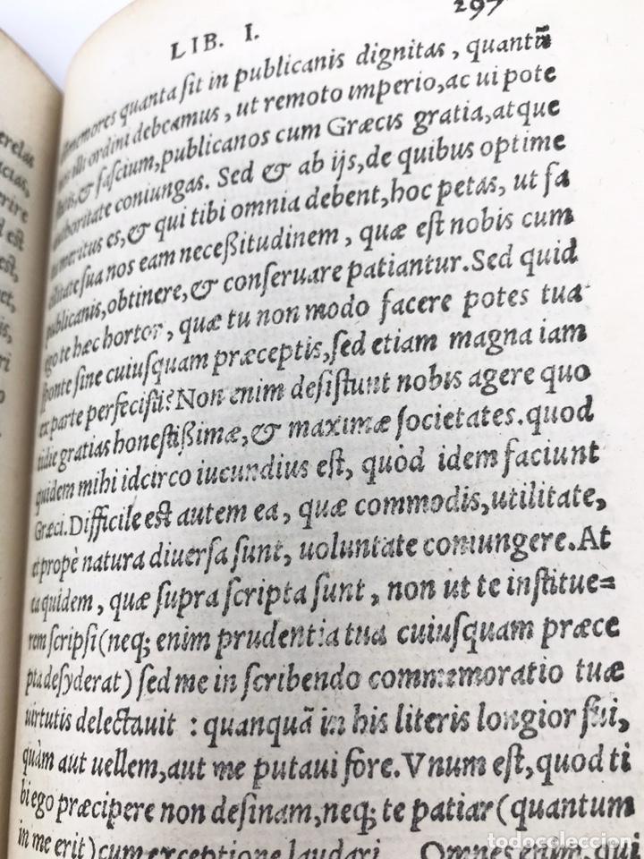 Libros antiguos: Ciceronis Epistolarum 1563, Siglo XVI, 17cmx11'5cmx5cm, 441 páginas, antiguo, excelente condición - Foto 17 - 176148134