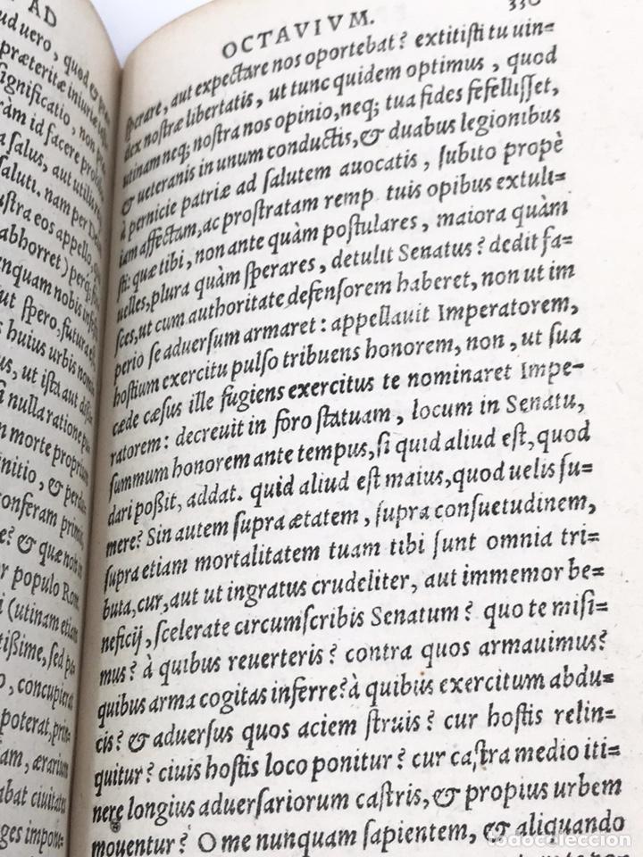 Libros antiguos: Ciceronis Epistolarum 1563, Siglo XVI, 17cmx11'5cmx5cm, 441 páginas, antiguo, excelente condición - Foto 19 - 176148134
