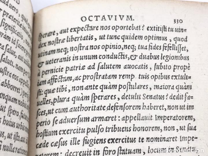 Libros antiguos: Ciceronis Epistolarum 1563, Siglo XVI, 17cmx11'5cmx5cm, 441 páginas, antiguo, excelente condición - Foto 20 - 176148134