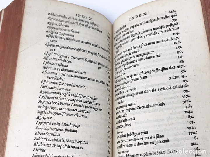 Libros antiguos: Ciceronis Epistolarum 1563, Siglo XVI, 17cmx11'5cmx5cm, 441 páginas, antiguo, excelente condición - Foto 22 - 176148134