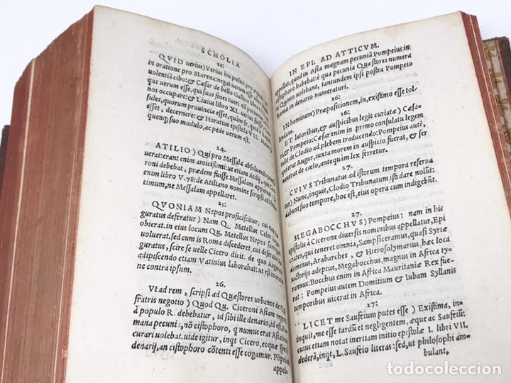 Libros antiguos: Ciceronis Epistolarum 1563, Siglo XVI, 17cmx11'5cmx5cm, 441 páginas, antiguo, excelente condición - Foto 25 - 176148134