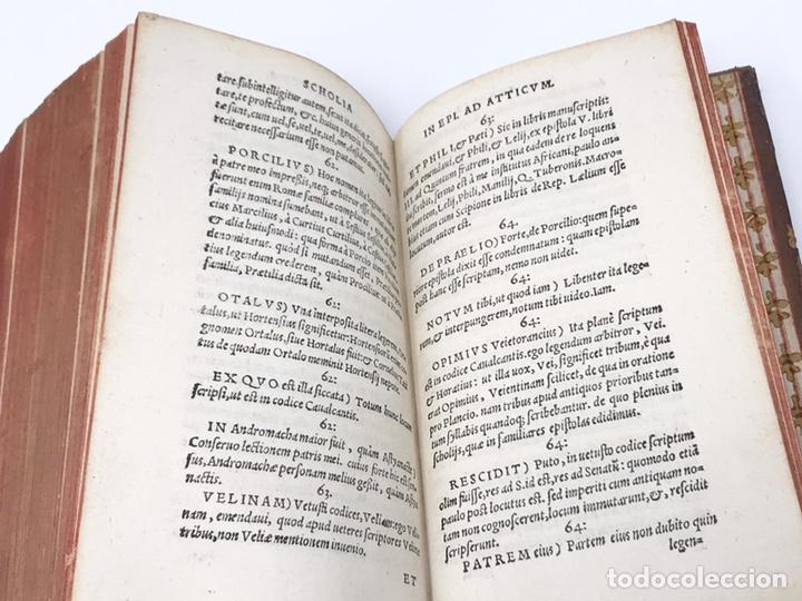 Libros antiguos: Ciceronis Epistolarum 1563, Siglo XVI, 17cmx11'5cmx5cm, 441 páginas, antiguo, excelente condición - Foto 26 - 176148134