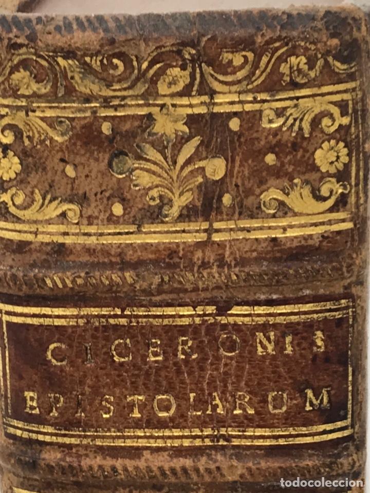 Libros antiguos: Ciceronis Epistolarum 1563, Siglo XVI, 17cmx11'5cmx5cm, 441 páginas, antiguo, excelente condición - Foto 29 - 176148134