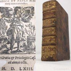 Libros antiguos: CICERONIS EPISTOLARUM 1563, SIGLO XVI, 17CMX11'5CMX5CM, 441 PÁGINAS, ANTIGUO, EXCELENTE CONDICIÓN. Lote 176148134