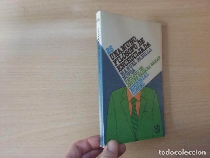 UNAMUNO, FILOSOFO DE ENCRUCIJADA - MANUEL PADILLA NOVOA (EDITORIAL CINCEL) (Libros Antiguos, Raros y Curiosos - Pensamiento - Filosofía)