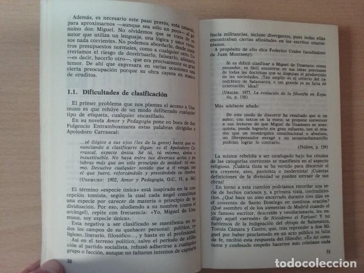 Libros antiguos: UNAMUNO, FILOSOFO DE ENCRUCIJADA - MANUEL PADILLA NOVOA (EDITORIAL CINCEL) - Foto 6 - 177495354