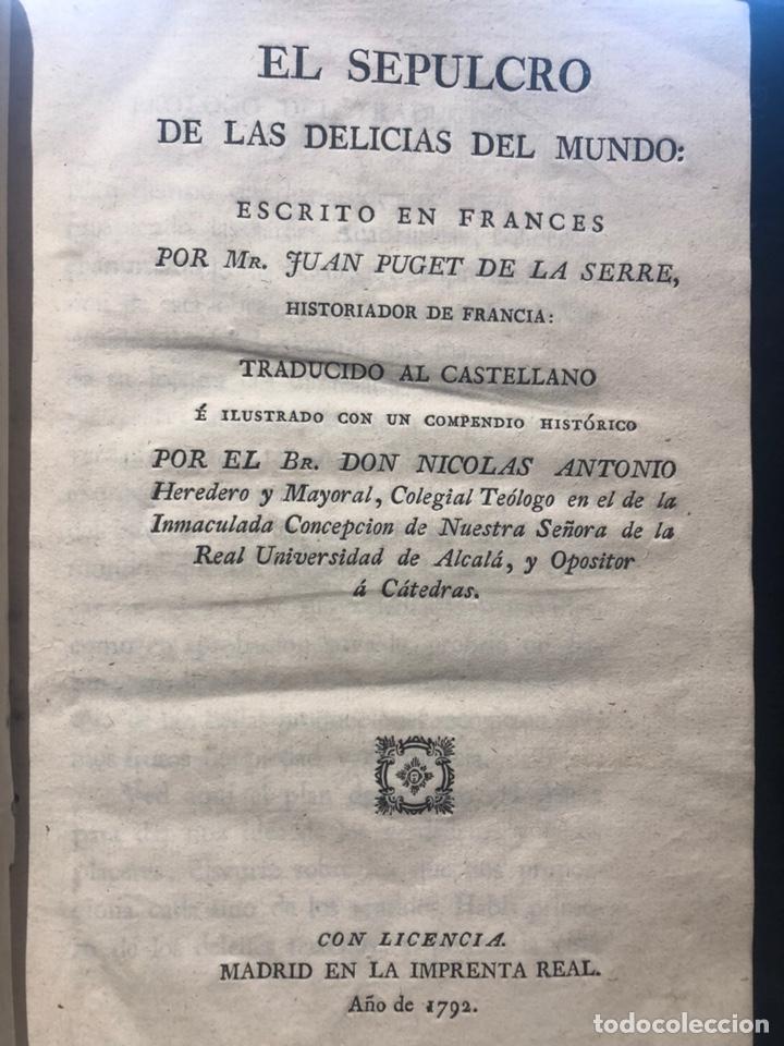 PUGET DE LA SERRÉ ( JUAN). EL SEPULCRO DE LAS DELICIAS DEL MUNDO (Libros Antiguos, Raros y Curiosos - Pensamiento - Filosofía)