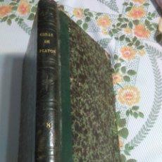 Libri antichi: OBRAS COMPLETAS DE PLATÓN. D. PATRICIO DE AZCÁRATE. (TOMO VIII). AÑO 1872. Lote 178151697