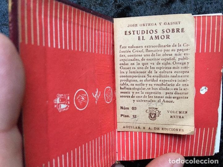 Libros antiguos: ESTUDIOS SOBRE EL AMOR - JOSÉ ORTEGA Y GASSET - CRISOLÍN 03 - VOLUMEN EXTRA - Foto 7 - 178987168