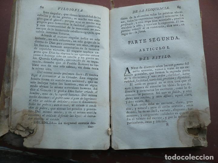 Libros antiguos: Filosofia de la Eloquencia por Antonio de Capmany, Madrid Antonio de Sancha 1777 - Foto 4 - 180162102