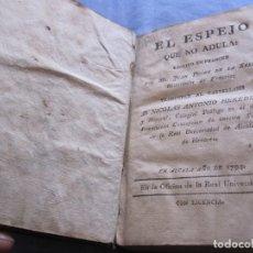 Libros antiguos: EL ESPEJO QUE NO ADULA - 1794. Lote 180452718