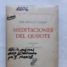 Libros antiguos: MEDITACIONES DEL QUIJOTE,JOSE ORTEGA Y GASSET 1957 UNIVERSIDAD PUERTO RICO REVISTA DE OCCIDENTE. Lote 180484643