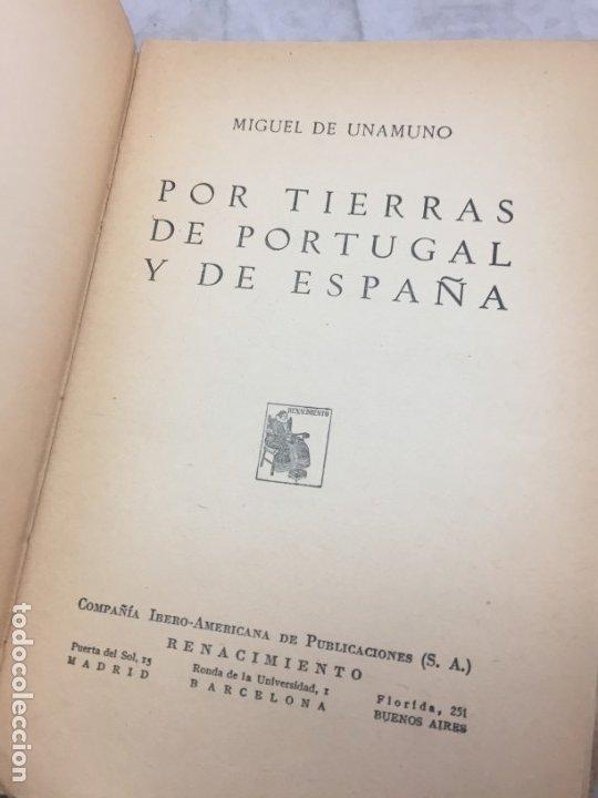 Libros antiguos: Por tierras de Portugal y de España Miguel de Unamuno Renacimiento, obras completas - Foto 2 - 181217346