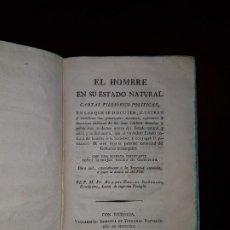 Libros antiguos: EL HOMBRE EN SU ESTADO NATURAL - 1819. Lote 181226721