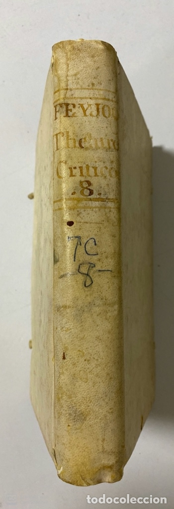 Libros antiguos: THEATRO CRITICO UNIVERSAL. GERONYMO FEYJOO. TOMO OCTAVO. PEDRO MARIN. REAL COMPAÑIA.MADRID, 1777. - Foto 2 - 181329011