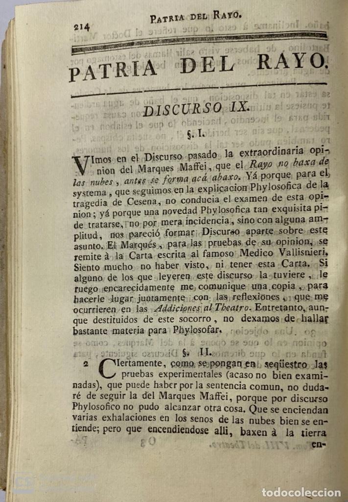 Libros antiguos: THEATRO CRITICO UNIVERSAL. GERONYMO FEYJOO. TOMO OCTAVO. PEDRO MARIN. REAL COMPAÑIA.MADRID, 1777. - Foto 6 - 181329011