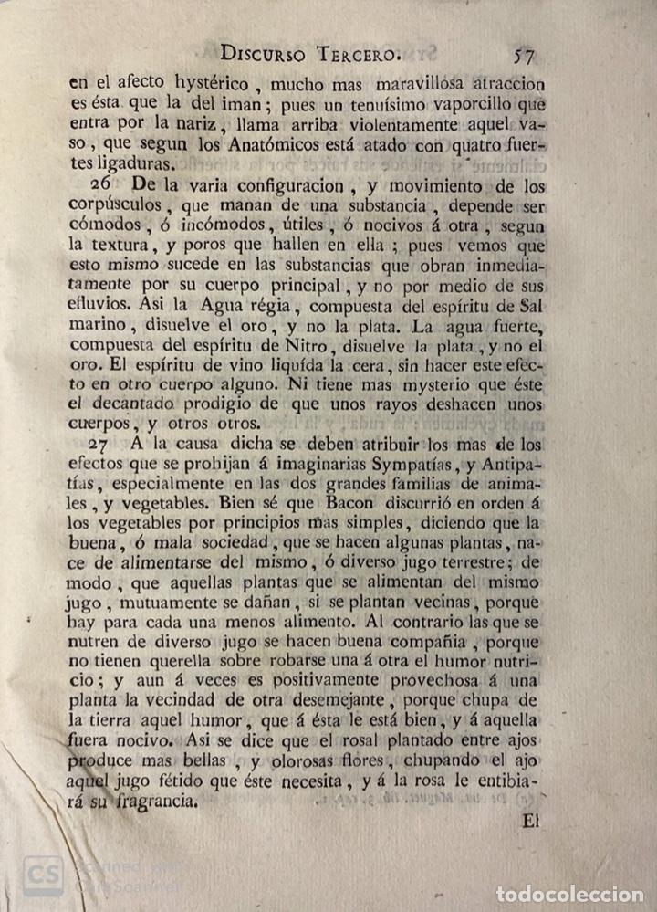Libros antiguos: THEATRO CRITICO UNIVERSAL.GERONYMO FEYJOO.TOMO TERCERO. PANTALEON AZNAR.REAL COMPAÑIA. MADRID, 1777 - Foto 6 - 181330832
