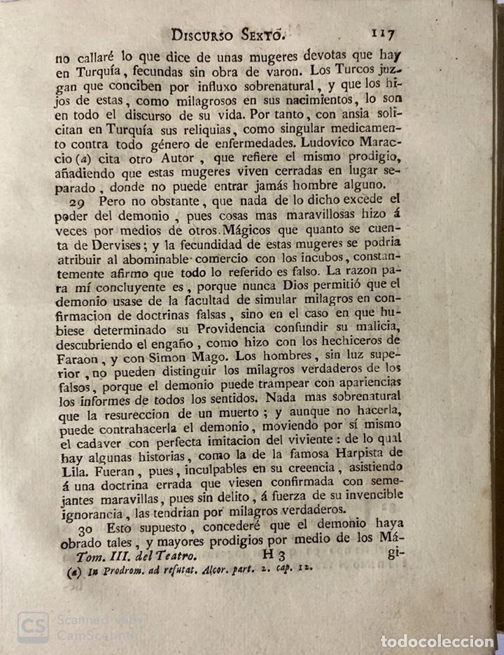 Libros antiguos: THEATRO CRITICO UNIVERSAL.GERONYMO FEYJOO.TOMO TERCERO. PANTALEON AZNAR.REAL COMPAÑIA. MADRID, 1777 - Foto 7 - 181330832