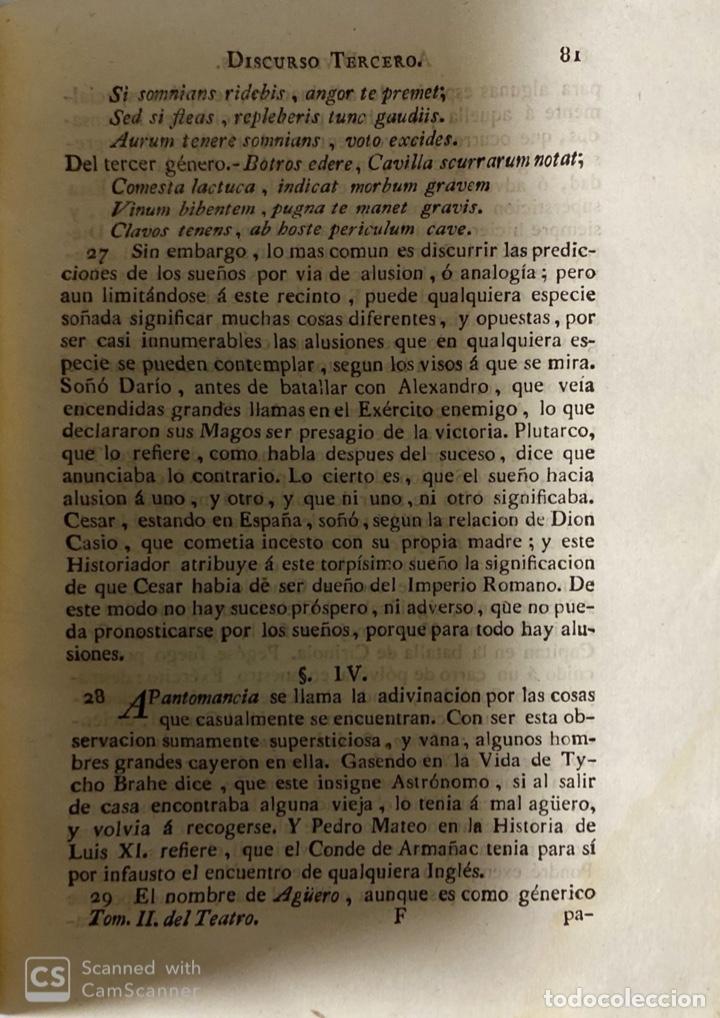 Libros antiguos: THEATRO CRITICO UNIVERSAL.GERONYMO FEYJOO.TOMO SEGUNDO. JOACHIN IBARRA.REAL COMPAÑIA. MADRID, 1777 - Foto 5 - 181331128
