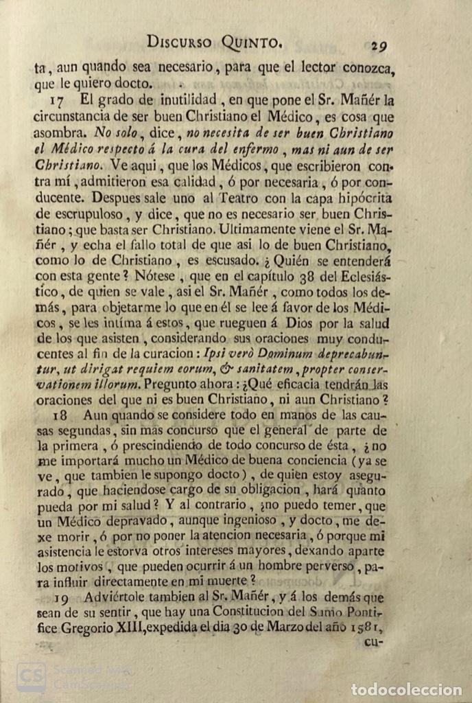 Libros antiguos: ILUSTRACION APOLOGETICA AL 1 Y 2 TOMO DEL TEATRO CRITICO.GERONIMO FEIJOO.PANTALEON AZNAR.MADRID,1777 - Foto 5 - 181335240