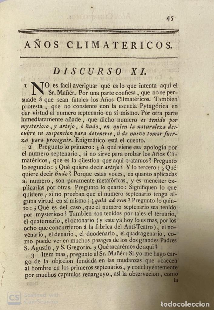 Libros antiguos: ILUSTRACION APOLOGETICA AL 1 Y 2 TOMO DEL TEATRO CRITICO.GERONIMO FEIJOO.PANTALEON AZNAR.MADRID,1777 - Foto 6 - 181335240