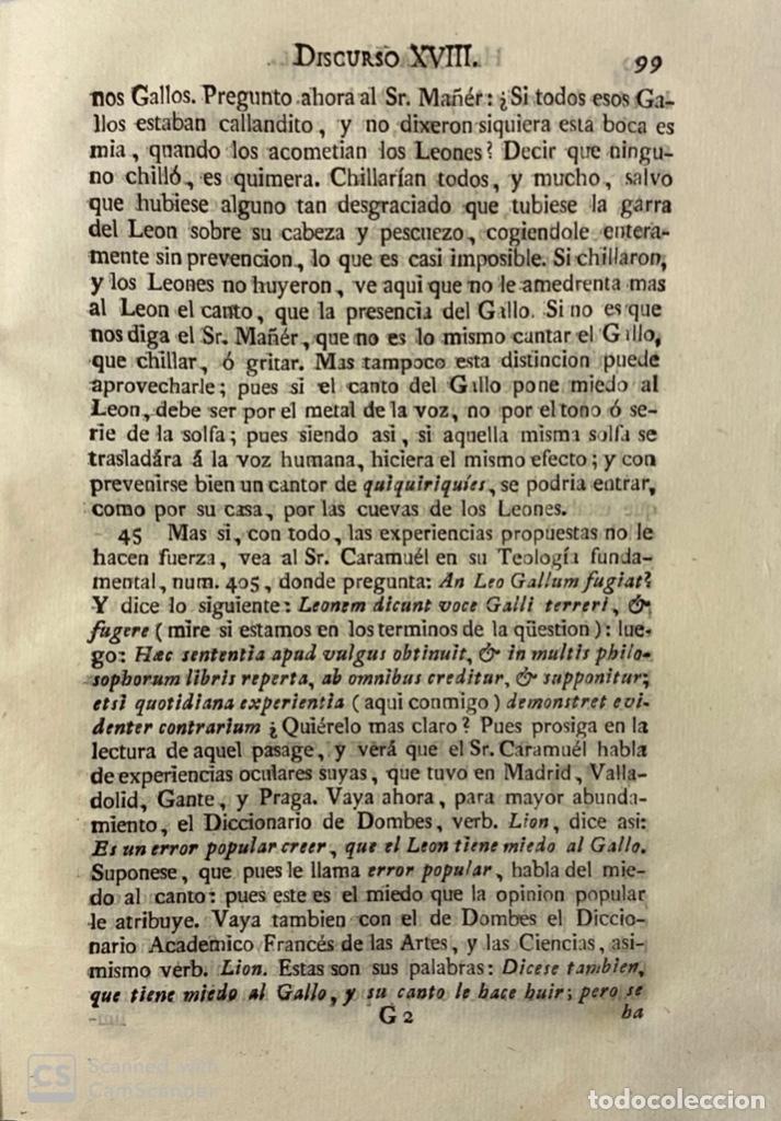 Libros antiguos: ILUSTRACION APOLOGETICA AL 1 Y 2 TOMO DEL TEATRO CRITICO.GERONIMO FEIJOO.PANTALEON AZNAR.MADRID,1777 - Foto 7 - 181335240