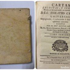 Libros antiguos: CARTAS ERUDITAS Y CURIOSAS THEATRO CRITICO UNIVERSAL.TOMO TERCERO.GERÓNYMO FEYJOÓ.MADRID,1777.LEER. Lote 181338697