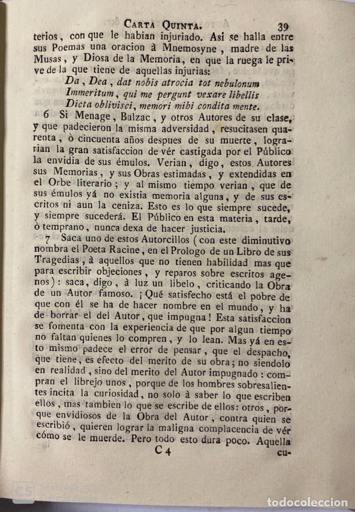Libros antiguos: CARTAS ERUDITAS Y CURIOSAS THEATRO CRITICO UNIVERSAL.TOMO SEGUNDO.GERÓNYMO FEYJOÓ.MADRID,1778.LEER - Foto 6 - 181339205