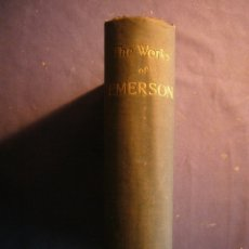 Libros antiguos: RALPH WALDO EMERSON: - WORKS - (LONDON, 1890). Lote 181493126